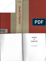 Jinnah of Pakistan by Stanley Wolpert Oxford 1984