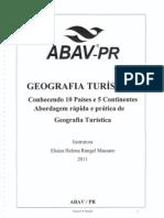 ABAV-PR Geografia Turística - Conhecendo 10 Paíeses e 5 Continentes