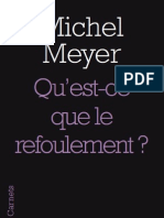 Qu'est-ce que le refoulement ?, de Michel Meyer