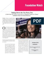 Taking Down the Tea Party Ten, by Matthew Vadum and Charles Dickenson (Foundation Watch, October 2012)