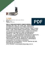 Reloj Checador Manual