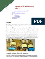 Prueba de Lamparas de Monitores y Pantallas de LCD