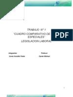 Sonia Astudillo Pardo (Cuadro Comparativo de Leyes Especiales, Trabajo N° 1)