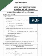 Phương trình, bất phương trình mũ và logarit