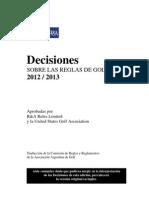 Decisiones Sobre Las Reglas de Golf 2012-2013
