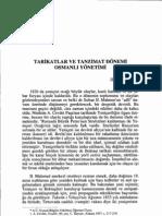 İlber OLTAYLI-Tarikatlar ve Tanzimat Dönemi Osmanlı Yönetimi
