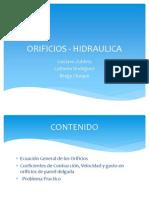 ORIFICIOS - HIDRAULICA