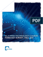 DLA Piper Tech Leaders Forecast Survey, October 2012