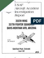 USAF Capt Craig Buttons Crash SuicideReport