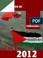 Editoriales Palestina Hoy Agosto 2012