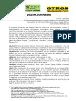 Diccionario del Modelo Extractivo Minero