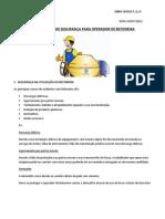 TREINAMENTO DE SEGURANÇA PARA OPERADOR DE BETONEIRA
