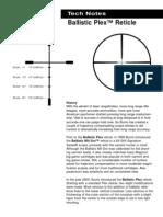 Ballistic Plex reticle