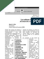 Sen, Amartya La cultura como basedel desarrollo contemporáneo