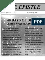 Epistle Jan 2009