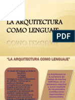 La Arquitectura Como Lenguaje