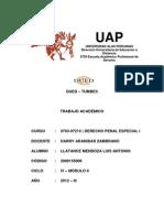 Trabajo Academico de Derecho Penal Especial i