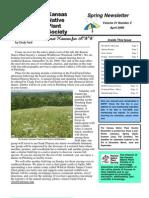 April 2009 Kansas Native Plant Society