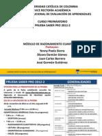 RAZONAMIENTO CUANTITATIVO 2012-2 Presentacion Para El Curso Ultima Version