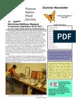 July 2011 Kansas Native Plant Society