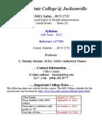 BCN2732 OnLine Syll. August 26 2012(1)