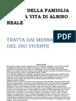 Storia Della Famiglia e Della Vita Di Albino Reale
