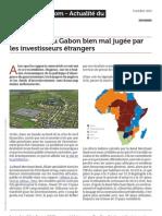 Gabonreview.com l Economie Du Gabon Bien Mal Jugee Par Les Investisseurs Etrangers