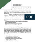 study of Job Design