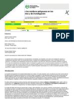 Gestion de Residuos Peligrosos en Laboratorios Uniersitarios
