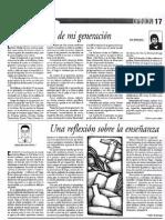 Colección de artículos de Edgar Salgado en el Semanario Universidad