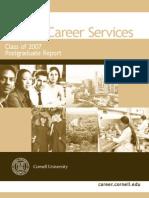 Cornell Postgraduate Survey 2007