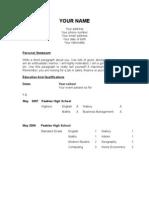 HR Recruitment & Selection Project CV