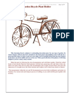 Bicicleta de jardín portamacetas