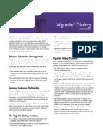 Vignette Dialog Product Datasheet