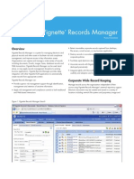 Vignette Records Manager Product Datasheet
