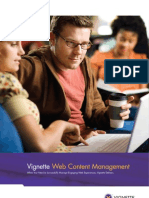 Vignette Web Content Management Brochure