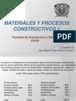 Materiales y Procesos Constructivos 1-1