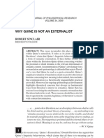 Quine and Externalism