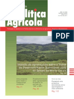 Impacto agronegócio sobre Índice Desenvolvimento Sustentável (IDS) MG