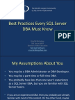 Best Practices Every SQL Server DBA Must Know Pensacola