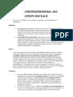 CHAPITRE 1- La Stratification Sociale -2012