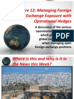 12 INBU 4200 Fall 2011 Managing Foreign Exchange Exposure With Operational Hedges