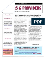 Payers & Providers Midwest Edition – Issue of October 9, 2012
