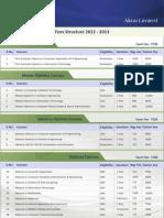 Alma Fee Structure 2012-13