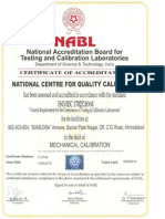 NABL accreditated calibration certificate - NCQC