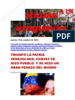 Noticias Uruguayas Martes 9 de Octubre Del 2012