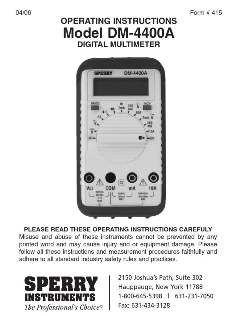 dm-4400a   Power Supply   Switch