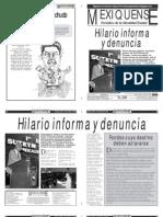 Versión impresa del periódico El mexiquense 9 de octubre 2012