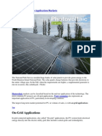 Photovoltaic End-Use Application Markets