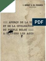 V.mirguet - Apercu de La Vie Et de La Civilisation Du Peuple Belge